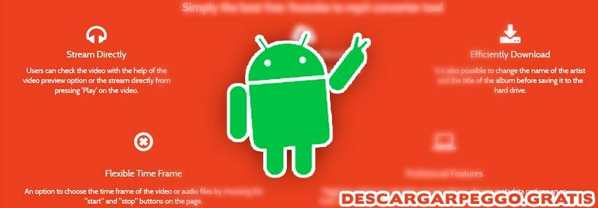características de la app en android
